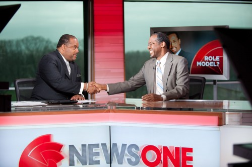 Photo: Newsone Roland Martin and Dr. Ben Carson