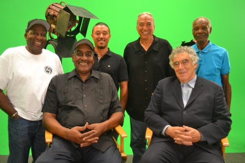 Front row:  Willie Harris (L) and Elliot Gould (R)  Back Row:  Alex Brown (L) Henry Kingi (C)